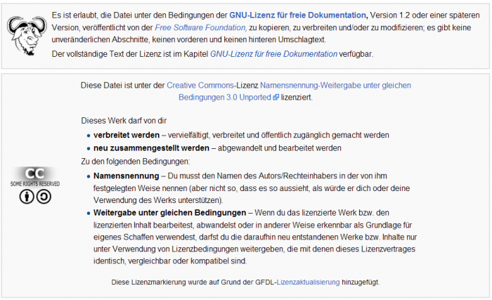 Screenshot von Wikipedia
