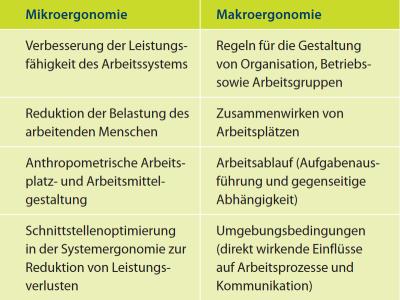 Unterscheidung Mikro- und Makroergonomie  (Nach Hartmann 2003)